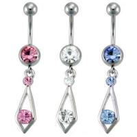 Best CZ Tie Dangle Belly Ring belly-ring-D023 wholesale