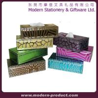 China Animal print facial paper tissue box cover on sale