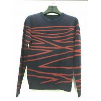China Hot sale design black and red knitted pattern long sleeve sweater for men on sale