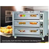 Economy riple deck nine trays industrial electric cake baking oven