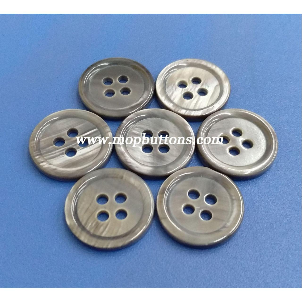 Best Smoke Grey Dyed Natural River Shell Pearl Buttons for Men's Suit, Jacket wholesale