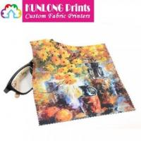 Promotional Microfiber Heat Transfer Printing Cleaning Cloth (KLPMC-004)