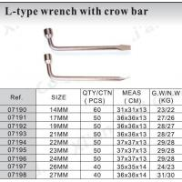 L-type wrench with crow bar