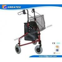 Best Three Wheel Folding Rollator Walker Aids With Cable Brakes And Food Tray wholesale