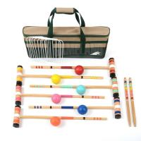 China 6 Player Professional Croquet Set with Carrying Bag on sale
