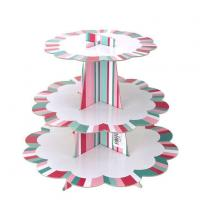 Cardboard Cake Stand with Scalloped Edges