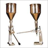 Buy cheap Hand Operated Paste Cream Tube Filling Machine from wholesalers