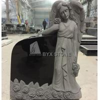 Shanxi Black Headstone Gravestones Granite Standing Angel for Granite Monuments Tombstone