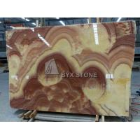Buy cheap Red Dragon Onyx Slabs Polished Natural Onyx Interior Wall Floor Tiles from wholesalers