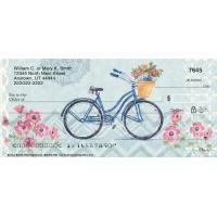Floral Bicycles Personal Checks