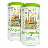 Babyganics All Purpose Surface Wipes, Fragrance Free, 150 Count contains Two 75-count canisters