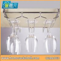 China Creative Triple Row Cup Rack Simple Stainless Steel Wine Cup Holder on sale