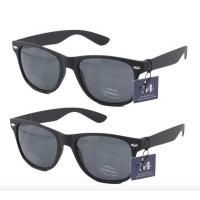 Buy cheap 2 pairs - Rectangular Black Sunglasses with case from wholesalers