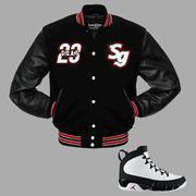 Buy cheap CLEARANCE G.O.A.T Varsity Jacket to match Jordan 9 OG Space Jam from wholesalers