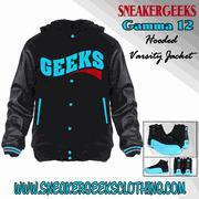 Buy cheap CLEARANCE GEEKS Gamma 12 Hooded Varsity Jacket to match the Gamma Blue 12s from wholesalers