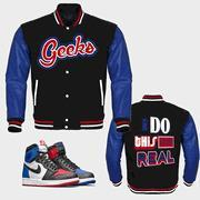 Buy cheap CLEARANCE I DO THIS FOR REAL Varsity Jacket to match Jordan 1 Top 3 from wholesalers