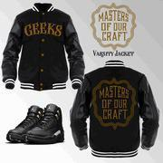 Buy cheap CLEARANCE MASTERS OF OUR CRAFT Varsity Jacket to match Jordan 12 Master from wholesalers