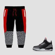 Buy cheap CLEARANCE Forever Laced Sweatpants to match Jordan 3 OG Black Cement from wholesalers
