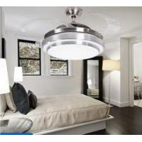 Buy cheap Crystal 42inch Ceiling Fan Hidden Blades Decorative Ceiling fan with light from wholesalers