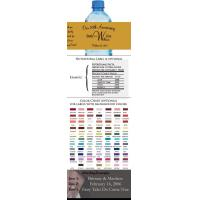 50th Wedding Anniversary Water Bottle Labels