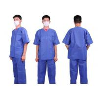 Nonwoven Patient Surgical Disposable Scrub Suits Medical Patient Gowns V Or Round Neck