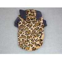 China Hooded Leopard Coral Velvet Pet Clothes JHB011 on sale