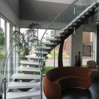Best Bent Stainless Steel Handrail Used For Indoor Curved Staircase PR-C37 wholesale