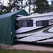 Buy cheap RV / Boat Garage Shelter 14'x42'x15' from wholesalers