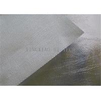 Best 550℃ Aluminum Foil Coated Texturized Fiberglass Fabric , Aluminized Fiberglass Cloth wholesale