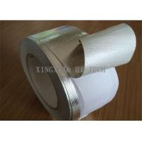 Best Self Adhesive Fireproof Coated Fiberglass Fabric Tape , Aluminum One Side Coated Fiberglass wholesale