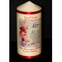 China Anniversary Candles 40th Ruby Wedding Anniversary Candle Gift on sale