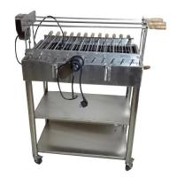 China Brazilian Churrasco Charcoal Stainless steel BBQ Spit Roaster Welding Technology on sale