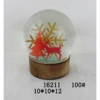 Buy cheap Milu Polyresin 100mm Christmas Waterglobe With Music,Wooden Base from wholesalers