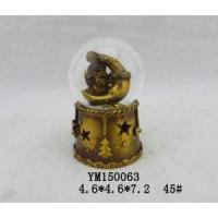 Buy cheap Santa Claus Gold Plated Polyresin 45mm Christmas Waterglobe With LED from wholesalers
