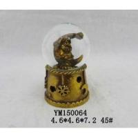 Buy cheap Santa Claus Gold Plated Polyresin 45mm Christmas Snowglobe With LED from wholesalers