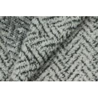 China Soft Zia Zag Woolen Blended Knitted Sheep Shearling Fabric For Women' s Coat on sale