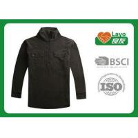 Best Casual Sports Mens Black Fleece Jacket With ISO9001 Certificate wholesale