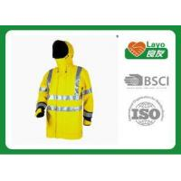 Best Long Reflective Safety Rain Jacket Yellow Rain Coat For Police Working wholesale