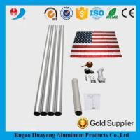 China Extension to 20Ft Aluminum Anodized Telescopic Flag Poles with Base Accessories on sale