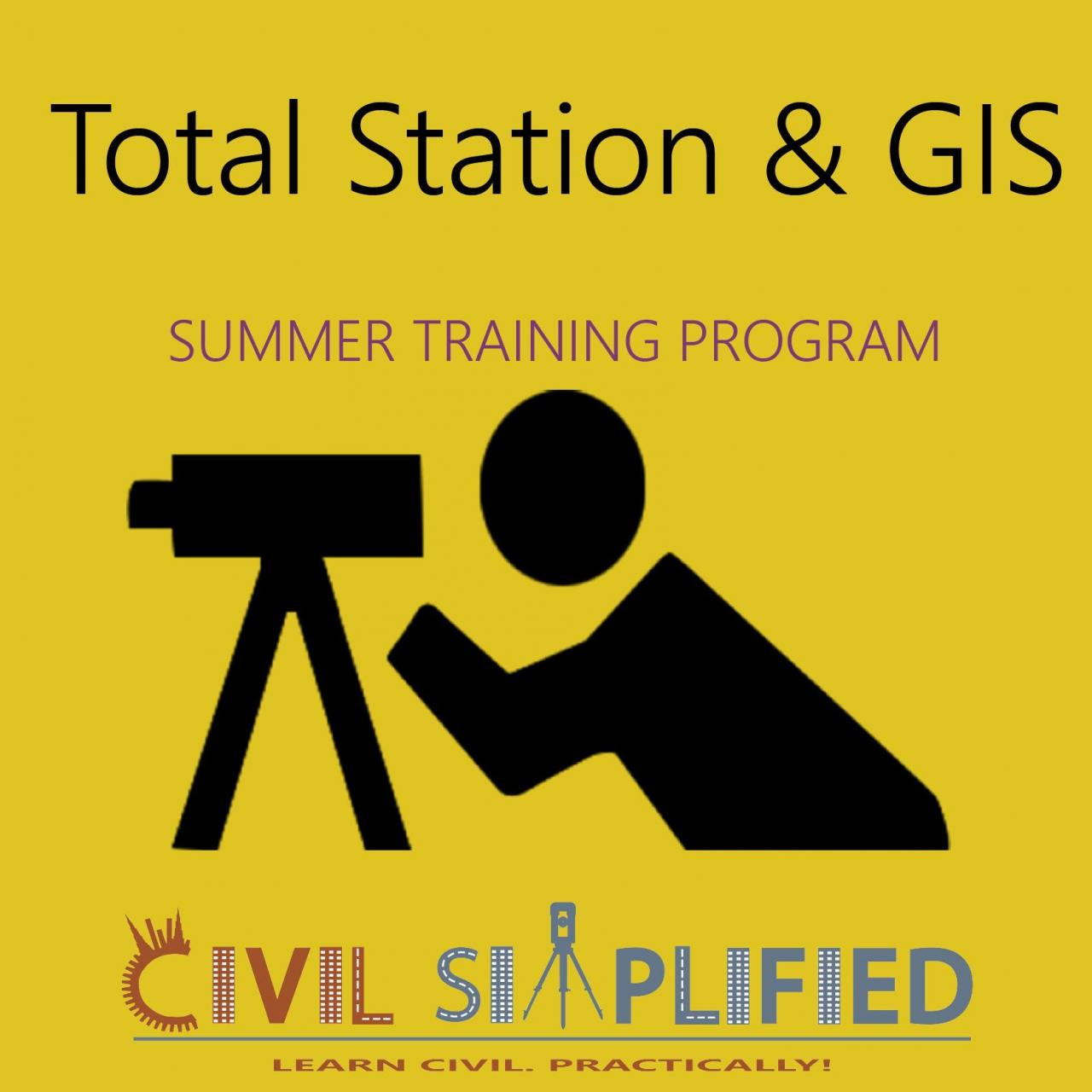 Best Summer Training Program in Civil Engineering - Total Station and GIS wholesale