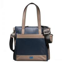 Best Men's Waterproof Canvas and Leather Messenger Bag-Blue wholesale