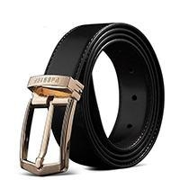 Cheap Pabojoe Genuine Leather Belt for men Gold for sale