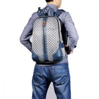 Best Plaid Waterproof Travel Backpack Holds 17inch Laptop wholesale
