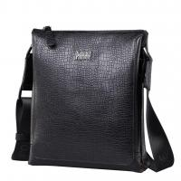 Best Men's Leather Single Business Messenger Bags Black wholesale