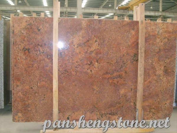Cheap Juparana Bordeaux Granite Slab for sale