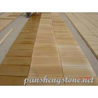 Quality Yellow wooden Sandstone Tile wholesale