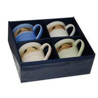 China Exquisite 4 Pcs Porcelain Tea / Coffee Cups Set on sale