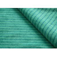 Eco - Friendly Printted Striped Minky Fabric Flame Retardant Farland