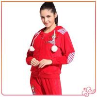 Best 2014 china lovely red wholesale velvet for women branded cheap tracksuits sports wholesale