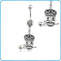 China BR01936 Pig Dangling Belly Button Navel Rings Wholesale on sale